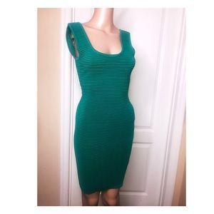 Emeralg green intermix bandage dress